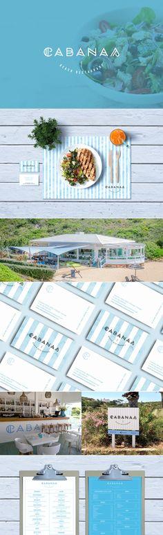 Cabanas beach restaurant branding by bruno fernandes | Fivestar Branding Agency – Design and Branding Agency & Curated Inspiration Gallery #restaurants #branding #design #menudesign #typography #behance #pinterest #dribbble #fivestarbranding