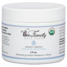 USDA Certified Organic Night Cream By BeeFriendly Sensitive Collection, Anti Wrinkle, Anti Aging, Deep Hydrating and Moisturizing Night Time Eye, Face, Neck and Decollete Cream for Men and Women -- Read more at the image link. #beautyandmakeup