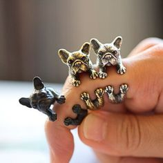 The cutest French Bulldog ring for a friend, a french bulldog lover, or even…