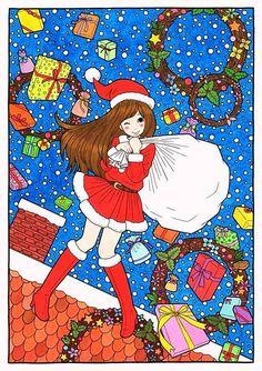 徳田有希 クリスマス サンタな女の子の画像 プリ画像