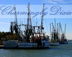 Shrimp Boats Charleston SC   signed color by CharminglyDixie, $10.00