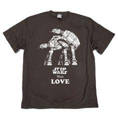 Stop Wars Make Love,  Star Wars T-shirt by smiletee, $15.00