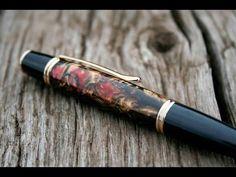 Resin Pen Blank Casting, Turning, & Polishing by Alumilite - YouTube