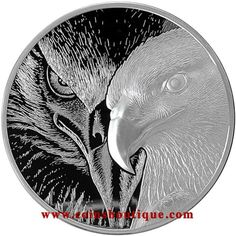 Majestic Eagle 10 oz High Relief Double Sides Silver Round 2020