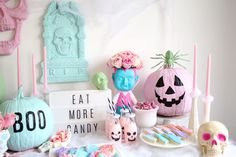 Pastel Halloween Decor - Amidst the Chaos