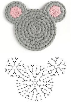 Crochet Case, Crochet Diagram, Crochet Gifts, Crochet Motif, Crochet Flowers, Crochet Basket Pattern, Crochet Stitches Patterns, Crochet Disney, Crochet Elephant