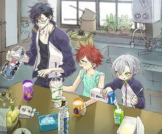 Akashi, Aizen, and Hotarumaru Anime Manga, Anime Guys, Nikkari Aoe, Touken Ranbu Characters, Anime Artwork, Anime Comics, Little Boys, Character Design, Otaku