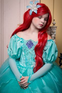 Ariel Disney Inspired Dress Ariel's Green Dress from by EllaDynae Little Girl Princess Dresses, Princess Ball Gowns, Ariel Disney, Baby Disney, Disney Princess, Costume Halloween, The Little Mermaid Halloween, Disney Inspired Dresses, Costume Dress