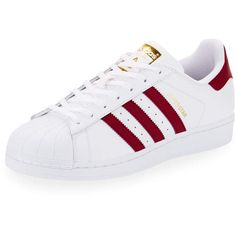 Adidas Men's Superstar Collegiate Leather Sneaker (265 BRL) ❤ liked on Polyvore featuring men's fashion, men's shoes, men's sneakers, white, mens white leather shoes, mens low tops, mens white sneakers, mens leather sneakers and mens low top shoes