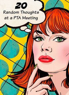 One uncomfortable mom's 20 random thoughts at her first PTA meeting. Parenting humor | motherhood | school | PTA