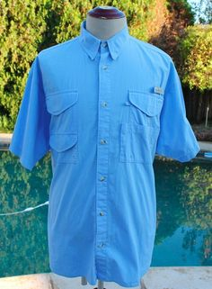 7861a2f8f771 Columbia PFG Mens Fishing Shirt size Large Fisher Fisherman Pro Gear Vented   Columbia  ButtonFrontShirt