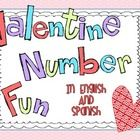 Included in this packet are games that practice number words in both English and Spanish.  The numbers and words for 0 through 20 and for the numbe...