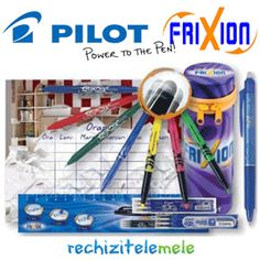 Rechizite Pilot Frixion Penar echipat cu instrumente de scris Frixion | TimeZ.ro Pilot, Tableware, Dinnerware, Tablewares, Pilots, Dishes, Place Settings