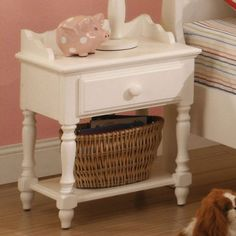 Kids' Nightstands - Adriana White Finish Youth Bedroom Nightstand >>> More info could be found at the image url. Furniture Deals, Cheap Furniture, Online Furniture, Kids Furniture, America Furniture, Bedroom Night Stands, Cool Themes, Bedroom Themes, Vanity Bench