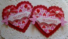 Valentine Heart Paper Embellishments-Set Of 2 on Etsy, $3.99
