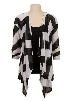 Open Front Chevron Stripe cardiwrap (original price, $29) available at #Maurices
