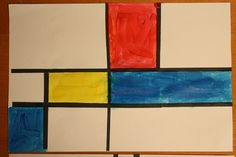 Piet Mondrian art project for kids