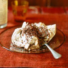 Monte bianco-schuim met chocolade & gember