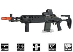 WE Full Metal M14 EBR GBB Rifle Airsoft Gun ( Black )