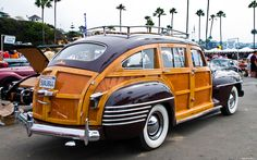 1942 Chrysler Town & Country Barrel Back Station Wagon...now here is a really distinctive car!
