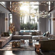 Living room designs – Home Decor Interior Designs Design Living Room, Living Room Interior, Home Living Room, Living Room Decor, Design Bedroom, Dining Room, Luxury Home Decor, Luxury Interior Design, Interior Decorating