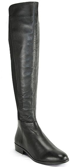 Michael Kors Bromley  Black Leather Stretch Boot in Black