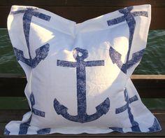"ANCHORS white on Navy 5//8/"" Grosgrain x 6 ft Nautical Beach Sea"