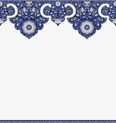Chinese floral border PNG and Clipart