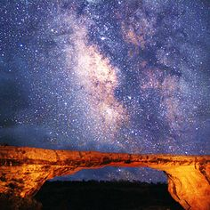 See the Milky Way. The blackest night reveals the brightest stars, and no place is better for reconnecting to your ancestral awe of the heavens than Natural Bridges National Monument (pictured; $6 per vehicle;bit.ly/gMWSiJ), in southeastern Utah. It's the world's first dark-sky park—so great summer stargazing is almost guaranteed. Camping $10.