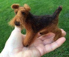 SOLD Welsh Terrier by BULLOCKwhatknots on Etsy
