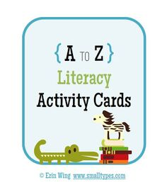 Classroom Freebies: Literacy Activity Cards