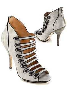 l a m b shoes heels ankle boots stilettos gray black 1954 |2013 Fashion High Heels