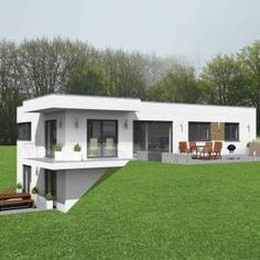 One Floor House Plans, Family House Plans, Bungalows, House Built Into Hillside, Thermal Hotel, Underground Homes, Small House Design, Hotel Spa, Historic Homes