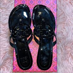 3de20fdfb5a Shop Women s Tory Burch Black size Sandals at a discounted price at Poshmark .