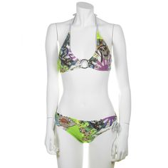 Ed Hardy Kamikazi Womens Swimwear Set - Lime - My collection from top #designers