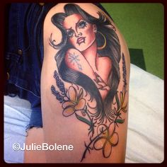 Chola tattoo by julie bolene