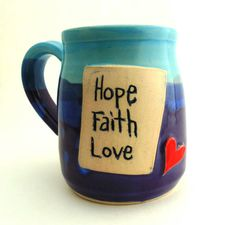 Hey, I found this really awesome Etsy listing at https://www.etsy.com/listing/200453487/handmade-personalized-pottery-mug-hope