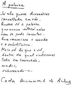 Dia Nacional da Poesia (A palavra, de Carlos Drummond de Andrade)