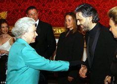 Andrea Bocelli with  Queen Elizabeth
