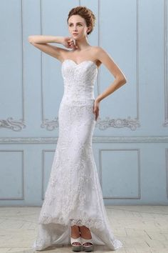 Summer Pleated Lace-up Appliques Fall Spring Outdoor Beading Wedding Dress