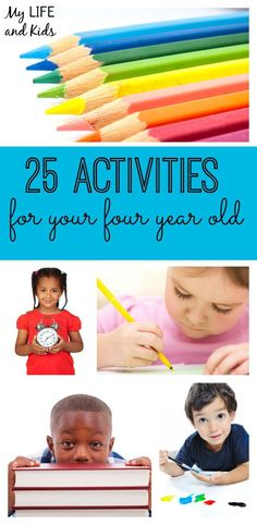Have a four year old at home? These 25 activities are perfect to keep your child busy, having fun and learning!