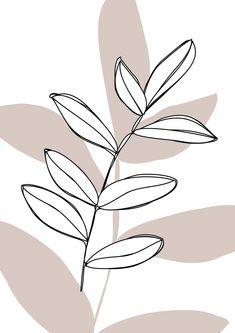 Beige Wallpaper, Iphone Background Wallpaper, Aesthetic Iphone Wallpaper, Aesthetic Wallpapers, Minimalist Wallpaper, Minimalist Art, Estilo Floral, Leaf Illustration, Leaf Drawing