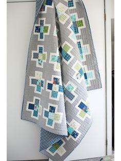 This fun and modern quilt pattern puts a different spin on a basic plus quilt. Simple piecing makes this a great beginner quilt, and it's precut-friendly. Finished size: baby x throw x queen x Modern Quilt Patterns, Quilt Block Patterns, Modern Quilt Blocks, Quilting Tutorials, Quilting Designs, Quilting Ideas, Beginner Quilting, Plus Quilt, Cross Quilt