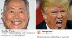 Trump Just Attacked Obama, and George Takei's Response is PRICELESS