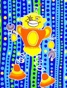 Spirobot Atomic Retro Robot. $12.00, via Etsy.
