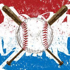 baseball with bats Royalty Free Stock Vector Art Illustration
