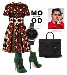 """""""Mood"""" by cecycecy-cccxx ❤ liked on Polyvore featuring Current Mood, Valentino, Olivia Burton, Anna F. and Yves Saint Laurent"""