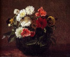 Flowers In A Clay Pot, 1883, Henri Fantin-Latour