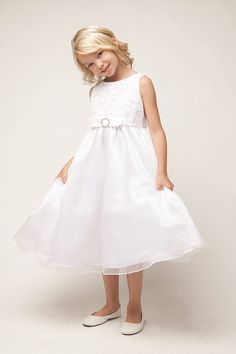 a474eca0c2e Flower Girl Dresses   SK484   Flower cord embroidery with organza dress