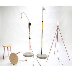 Concrete Floor Lamp Is Industrial Retro Looking New Design With Cement Base, Rustic with Urban Materials That Have Been Recycled into a Very Vintage Lamp Concrete Furniture, Concrete Floors, Floor Standing Lamps, Floor Lamp, Money For Nothing, Vintage Industrial Lighting, Large Lamps, Retro Lamp, Concrete Design